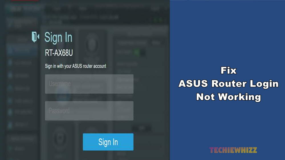 fix asus router login not working