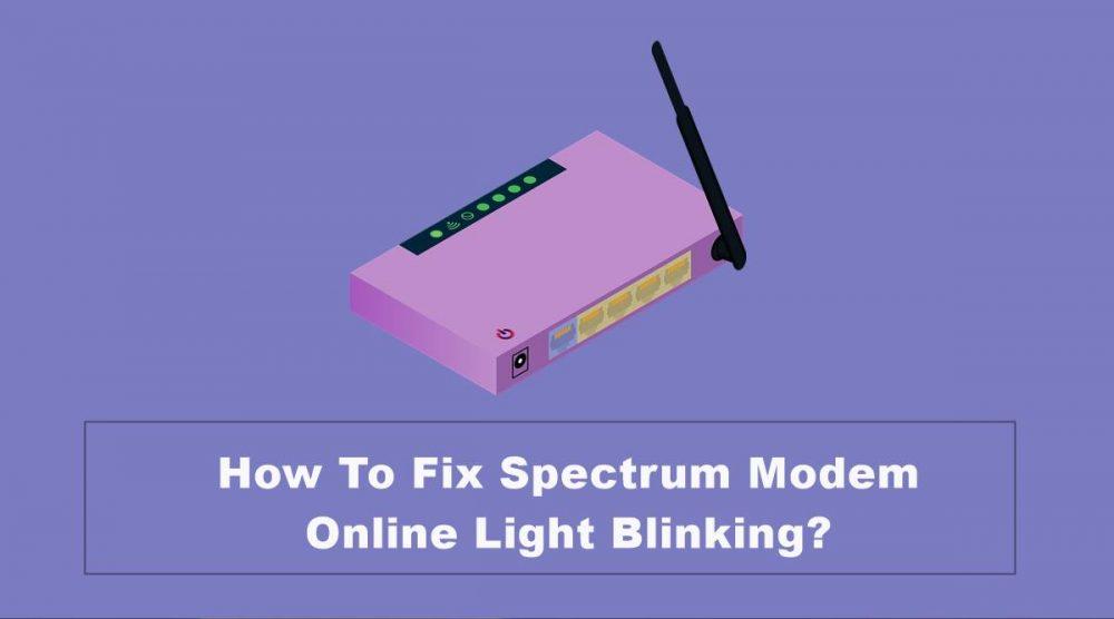 fix spectrum modem online light blinking