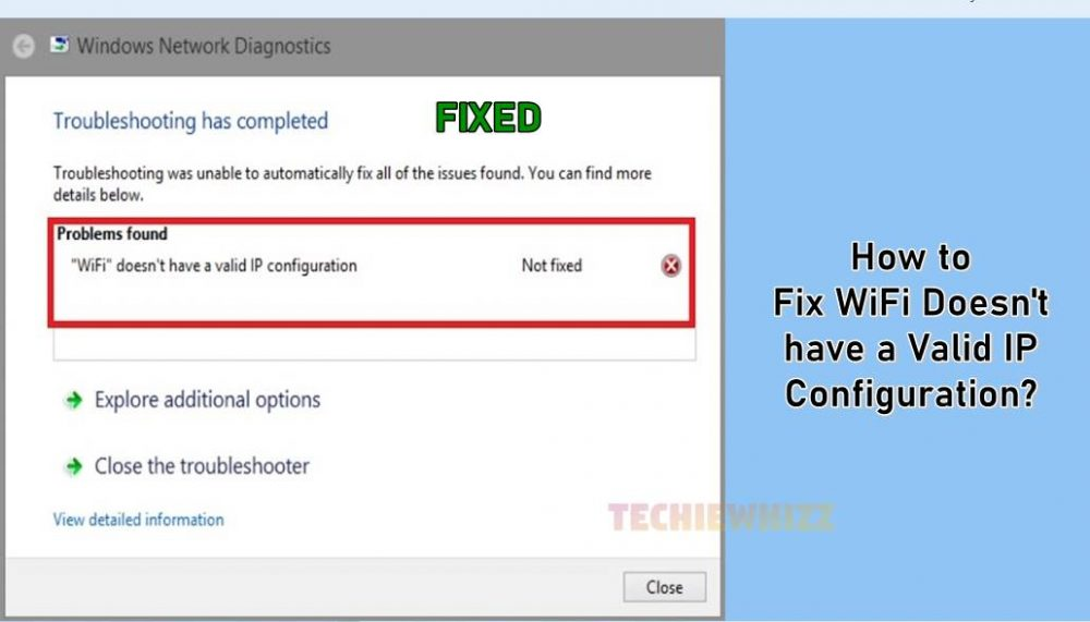 How to Fix WiFi Doesn't have a Valid IP Configuration