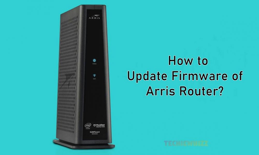 how to update firmware of arris router