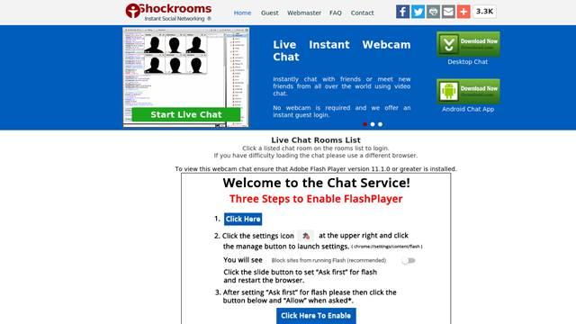 shockrooms random chat platform